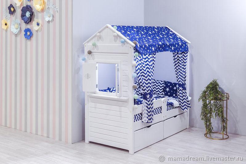 Крыша и занавески для кроватки-домика, Балдахин для кроватки, Санкт-Петербург,  Фото №1