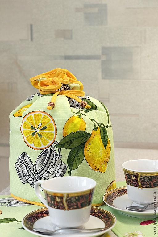Кухня ручной работы. Ярмарка Мастеров - ручная работа. Купить Грелка для чайника. Handmade. Грелка на чайник, для кухни, салатовый