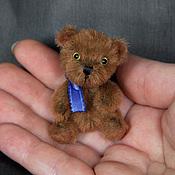 """Куклы и игрушки ручной работы. Ярмарка Мастеров - ручная работа %% Миниатюрный тедди мишка Малыш """"Tot"""" 5,4 см. Handmade."""