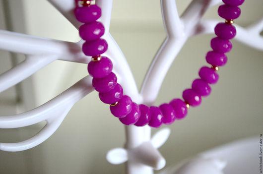 """Браслеты ручной работы. Ярмарка Мастеров - ручная работа. Купить Браслет позолота, фиолетовый кварц """"Purple"""". Handmade. Тёмно-фиолетовый"""
