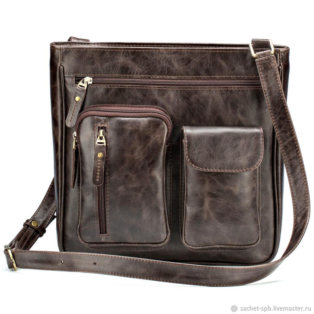 bd4ae9ea343f Мужские сумки ручной работы. Ярмарка Мастеров - ручная работа. Купить  Кожаная сумка