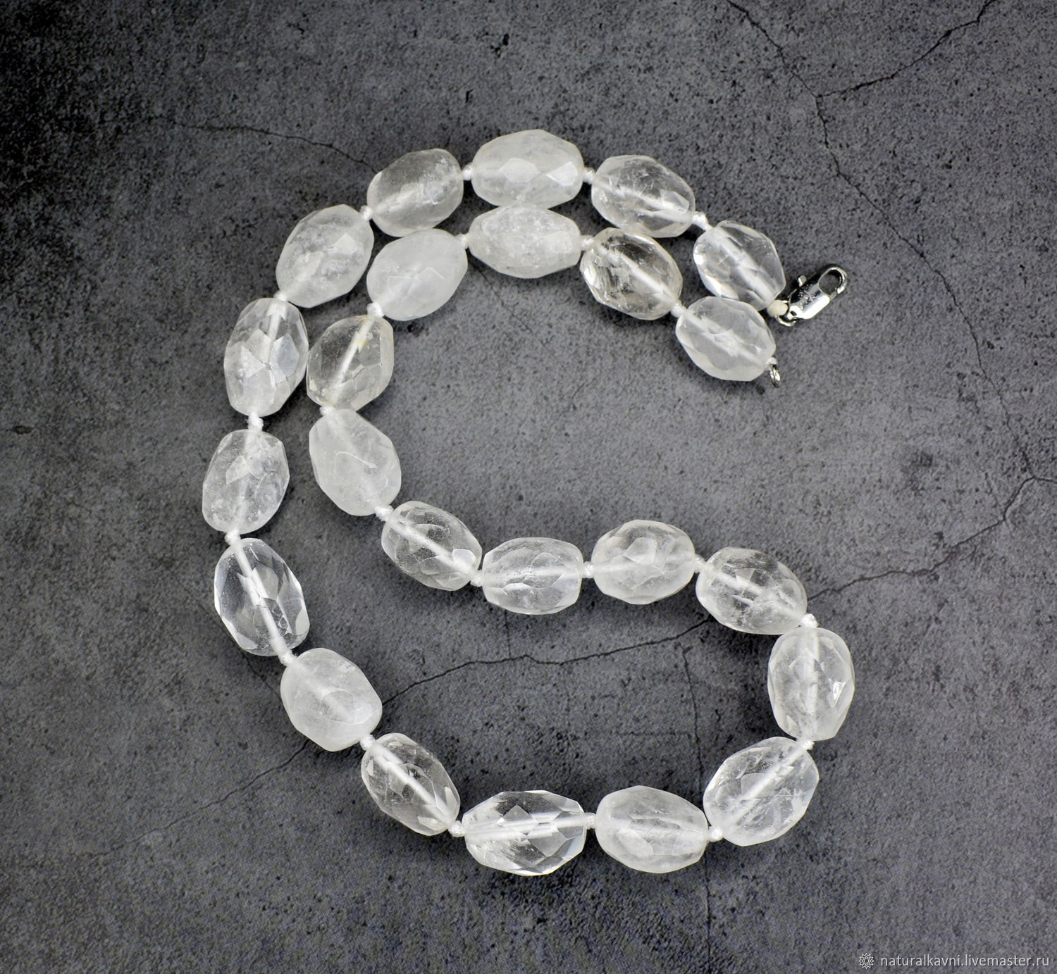 Delicate beads genuine rock crystal with cut, Beads2, Moscow,  Фото №1