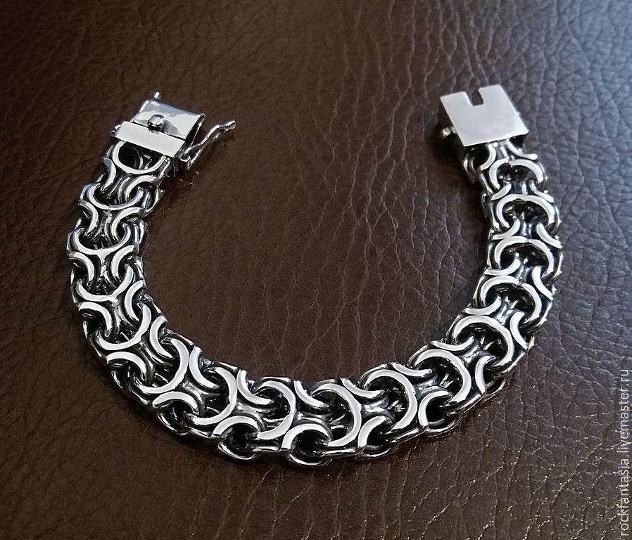 Стоимость серебряного мужского браслета