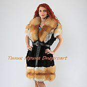 "Одежда handmade. Livemaster - original item Vest ""Charm""of rabbit with Fox fur. Handmade."