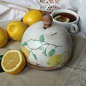 """Для дома и интерьера ручной работы. Ярмарка Мастеров - ручная работа Хлебница """"Лимоны"""". Handmade."""