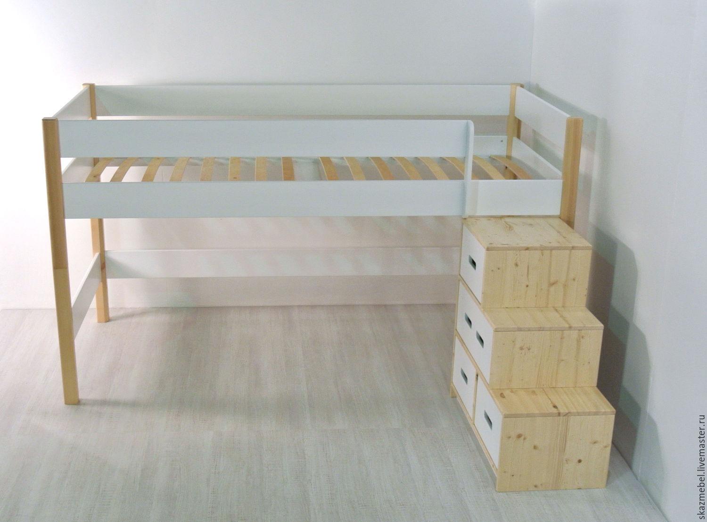 Кровать с лестницей своими руками - чертежи и фото Своими 37