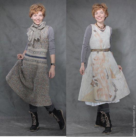 """Платья ручной работы. Ярмарка Мастеров - ручная работа. Купить валяное платье-сарафан  """"Сountry"""" в стиле бохо. Handmade. Платье"""