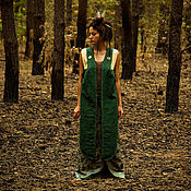 "Одежда handmade. Livemaster - original item ""Forest Owl"" Linen Vest. Handmade."