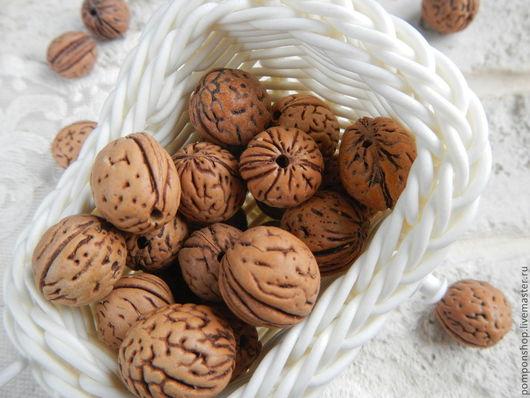 """Для украшений ручной работы. Ярмарка Мастеров - ручная работа. Купить Бусина """"Грецкий орех"""". Handmade. Бусины, бусины для бижутерии"""