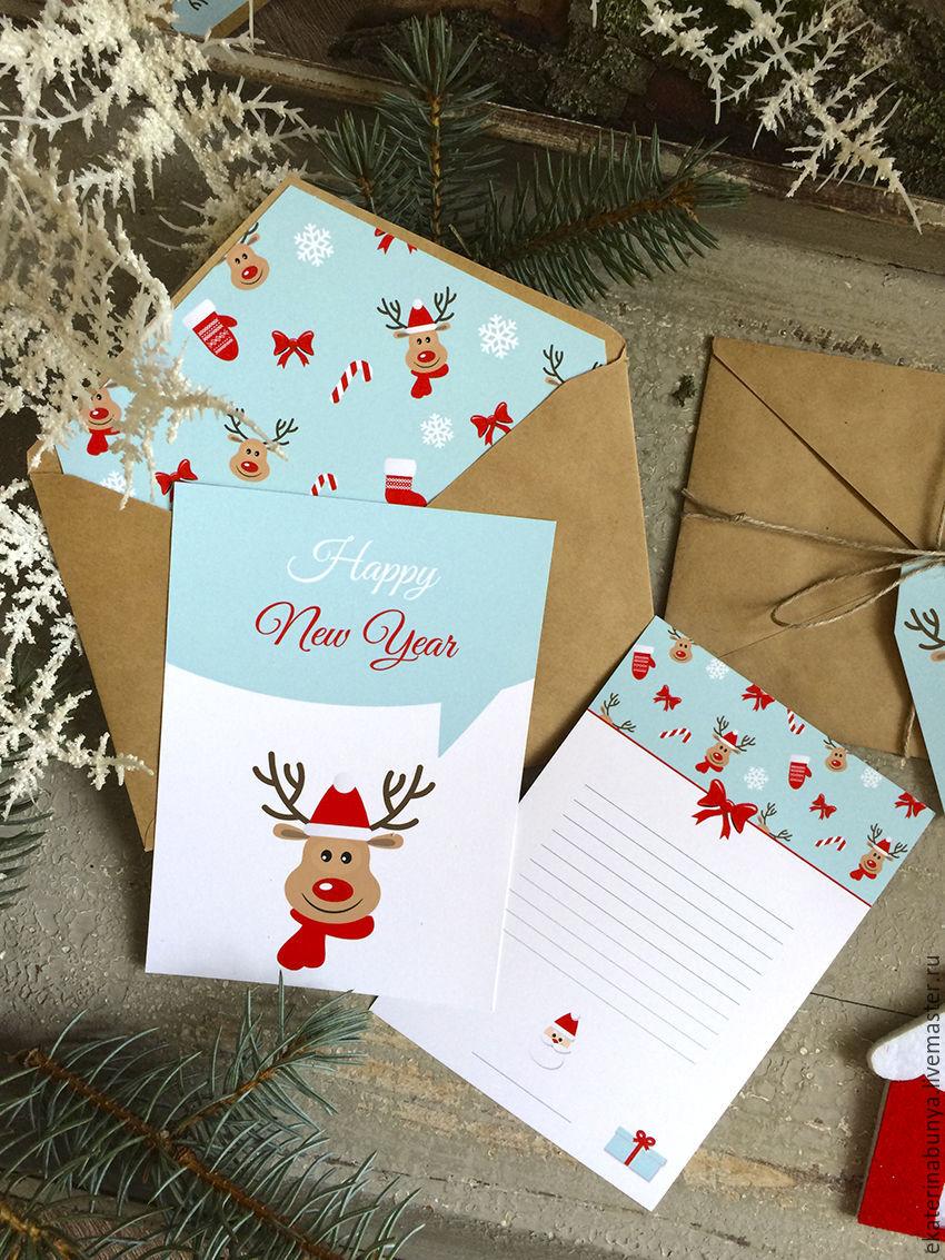 Новогодние конверты с открытками
