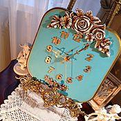 Для дома и интерьера ручной работы. Ярмарка Мастеров - ручная работа Настенные часы Бирюзовое счастье Tiffany. Handmade.