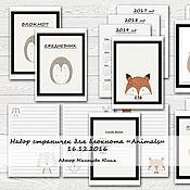 """Дизайн и реклама ручной работы. Ярмарка Мастеров - ручная работа Странички для блокнота """"Animals"""". Handmade."""