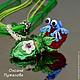 Аромакулон с лягушонком из муранского стекла, подарок женщине