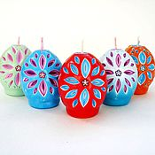 Подарки к праздникам handmade. Livemaster - original item Carved Easter candles - Easter egg - Easter gift. Handmade.