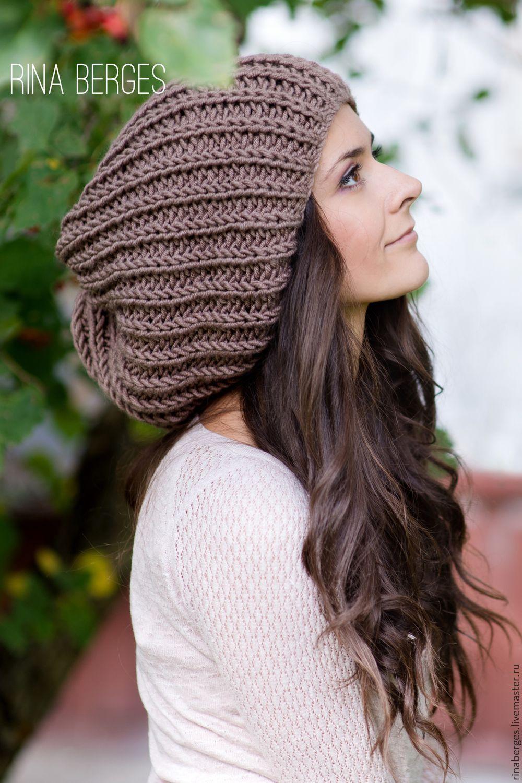 Объемная шапка. Купить шапку в Москве с доставкой на дом. Интернет магазин дизайнерской одежды и аксессуаров Rina Berges крупное вязание