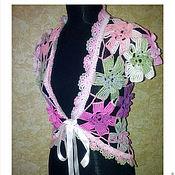 Одежда ручной работы. Ярмарка Мастеров - ручная работа болеро - Цветочная поляна. Handmade.