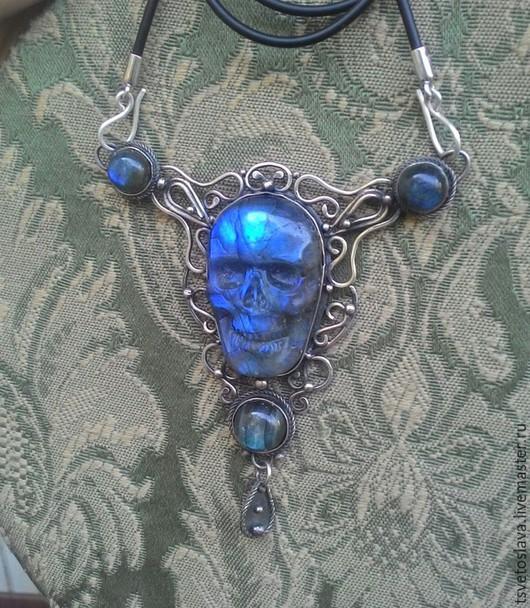 """Колье, бусы ручной работы. Ярмарка Мастеров - ручная работа. Купить Колье """"Memento"""" серебро,лабрадоры. Handmade. Синий, лабрадорит"""