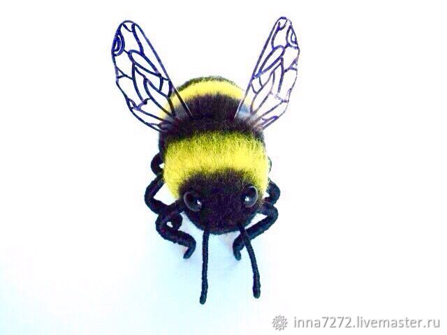 Felt toy: bumblebee made of wool, Felted Toy, Dimitrovgrad,  Фото №1