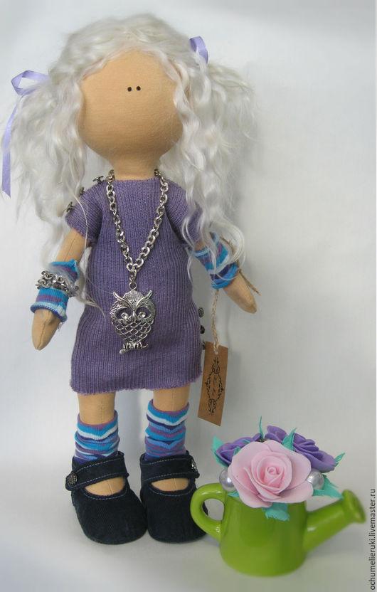 Куклы Тильды ручной работы. Ярмарка Мастеров - ручная работа. Купить Тильда, Текстильная кукла. Handmade. Сиреневый, итальянский трикотаж