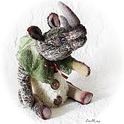 Куклы и игрушки ручной работы. Ярмарка Мастеров - ручная работа Интерьерная скульптура в стиле тедди Носорог. Handmade.