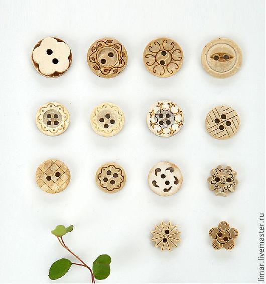 Шитье ручной работы. Ярмарка Мастеров - ручная работа. Купить Пуговицы кокосовые, 14 видов. Handmade. Пуговицы, кокос