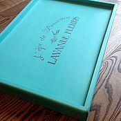 """Поднос на ножках """"Lavande fleurs"""" turquoise"""
