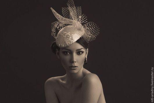 """Одежда и аксессуары ручной работы. Ярмарка Мастеров - ручная работа. Купить Шляпка """"White Queen"""". Handmade. Белый, дизайнерская шляпка"""