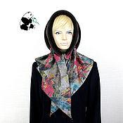 Аксессуары handmade. Livemaster - original item Designer fur scarf from ecomega. Seven colors. # .№4. Handmade.
