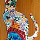Животные ручной работы. Ярмарка Мастеров - ручная работа. Купить Кот-карнавал. Handmade. Разноцветный, кот карнавал, подарок