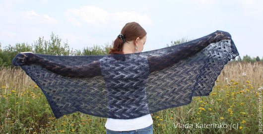 """Шали, палантины ручной работы. Ярмарка Мастеров - ручная работа. Купить Палантин """"viento de la noche"""". Handmade. шарф"""