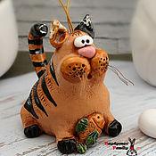 Сувениры и подарки handmade. Livemaster - original item Bells: Cat, bell. Cat made of ceramic. Handmade.