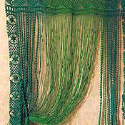 """Для дома и интерьера ручной работы. Ярмарка Мастеров - ручная работа Штооры-макраме """"Зеленые струи весны"""". Handmade."""