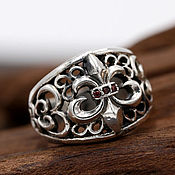 Украшения handmade. Livemaster - original item Ring with royal lily of 925. Handmade.
