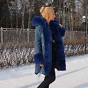 """Одежда ручной работы. Ярмарка Мастеров - ручная работа Куртка-парка """" Индиго """". Handmade."""