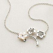Украшения ручной работы. Ярмарка Мастеров - ручная работа Подвеска из серебра Цветок Японии. Handmade.