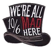 Аппликации ручной работы. Ярмарка Мастеров - ручная работа Нашивка шапка безумного шляпника, Алиса в стране чудес.. Handmade.
