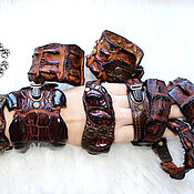 Украшения ручной работы. Ярмарка Мастеров - ручная работа Браслетики крокодиловые. Handmade.