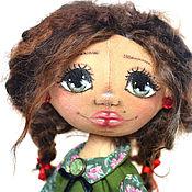 Куклы и игрушки ручной работы. Ярмарка Мастеров - ручная работа Интерьерная кукла тыквоголовка Алина. Handmade.