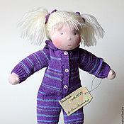 Куклы и игрушки ручной работы. Ярмарка Мастеров - ручная работа Вальдорфская кукла, Фиалка 34см. Handmade.