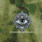 Материалы для творчества handmade. Livemaster - original item patch Eye ornament (East). Handmade.
