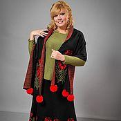 Одежда ручной работы. Ярмарка Мастеров - ручная работа Вязаная юбка и шарф. Handmade.
