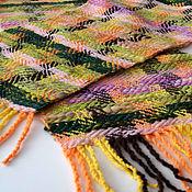 Аксессуары ручной работы. Ярмарка Мастеров - ручная работа Шарф разноцветный, домотканый. Handmade.