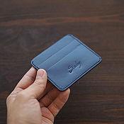 Сумки и аксессуары handmade. Livemaster - original item Cardholder Blue made of Buttero leather. Handmade.
