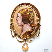 """Украшения ручной работы. Ярмарка Мастеров - ручная работа вышитая брошь-портрет """"золотой век"""". Handmade."""