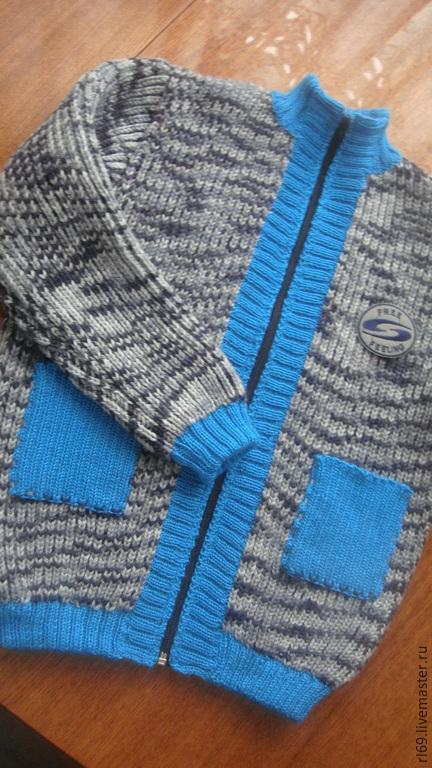 Одежда для мальчиков, ручной работы. Ярмарка Мастеров - ручная работа. Купить теплая кофта для мальчика. Handmade. Джемпер вязаный, шерсть