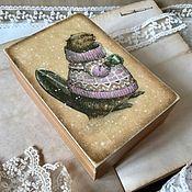 Для дома и интерьера ручной работы. Ярмарка Мастеров - ручная работа Мистер Бобер - шкатулочка для украшений. Handmade.