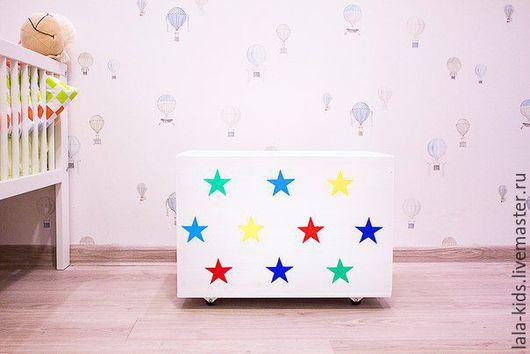 Детская ручной работы. Ярмарка Мастеров - ручная работа. Купить Большой ящик для игрушек Звезды. Handmade. Комбинированный, ящик для хранения