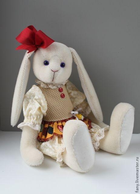 Мишки Тедди ручной работы. Ярмарка Мастеров - ручная работа. Купить Пасхальная Зайка. Handmade. Белый, мохер Германия
