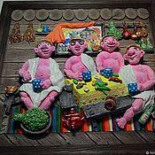 Витражи ручной работы. Ярмарка Мастеров - ручная работа Панно декоративные для Бани. Handmade.