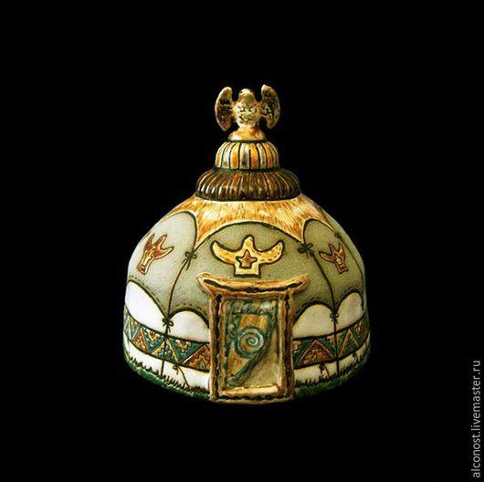"""Колокольчики ручной работы. Ярмарка Мастеров - ручная работа. Купить колокольчик """" Юрта"""". Handmade. Голубой, дом, коллекция, этника"""